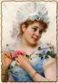Юная девушка с розой