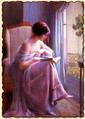 Девушка, читающая у окна