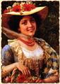 Соломенная шляпка с маками